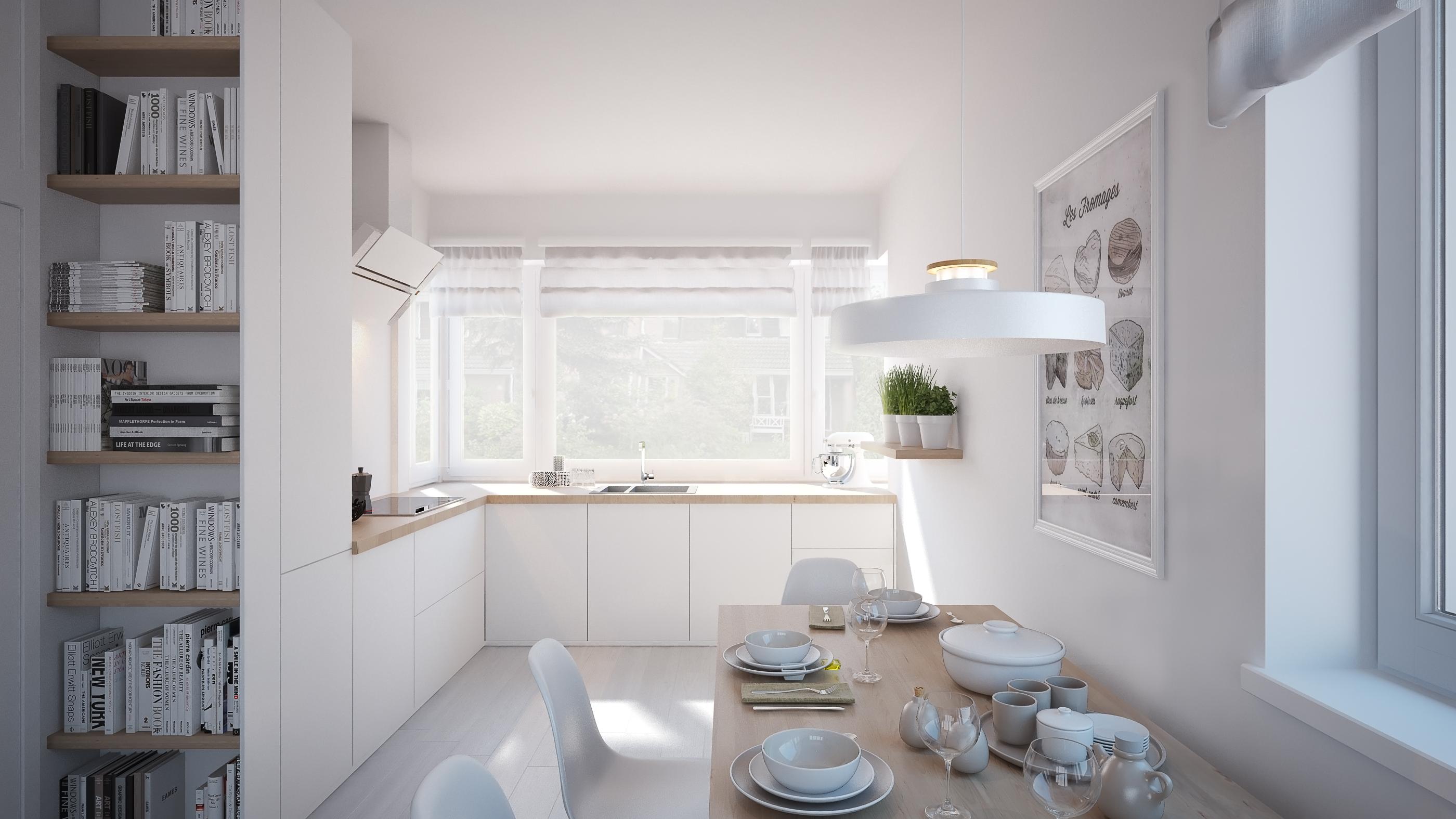 Wizualizacja mieszkanie developerskie Utrecht kuchnia