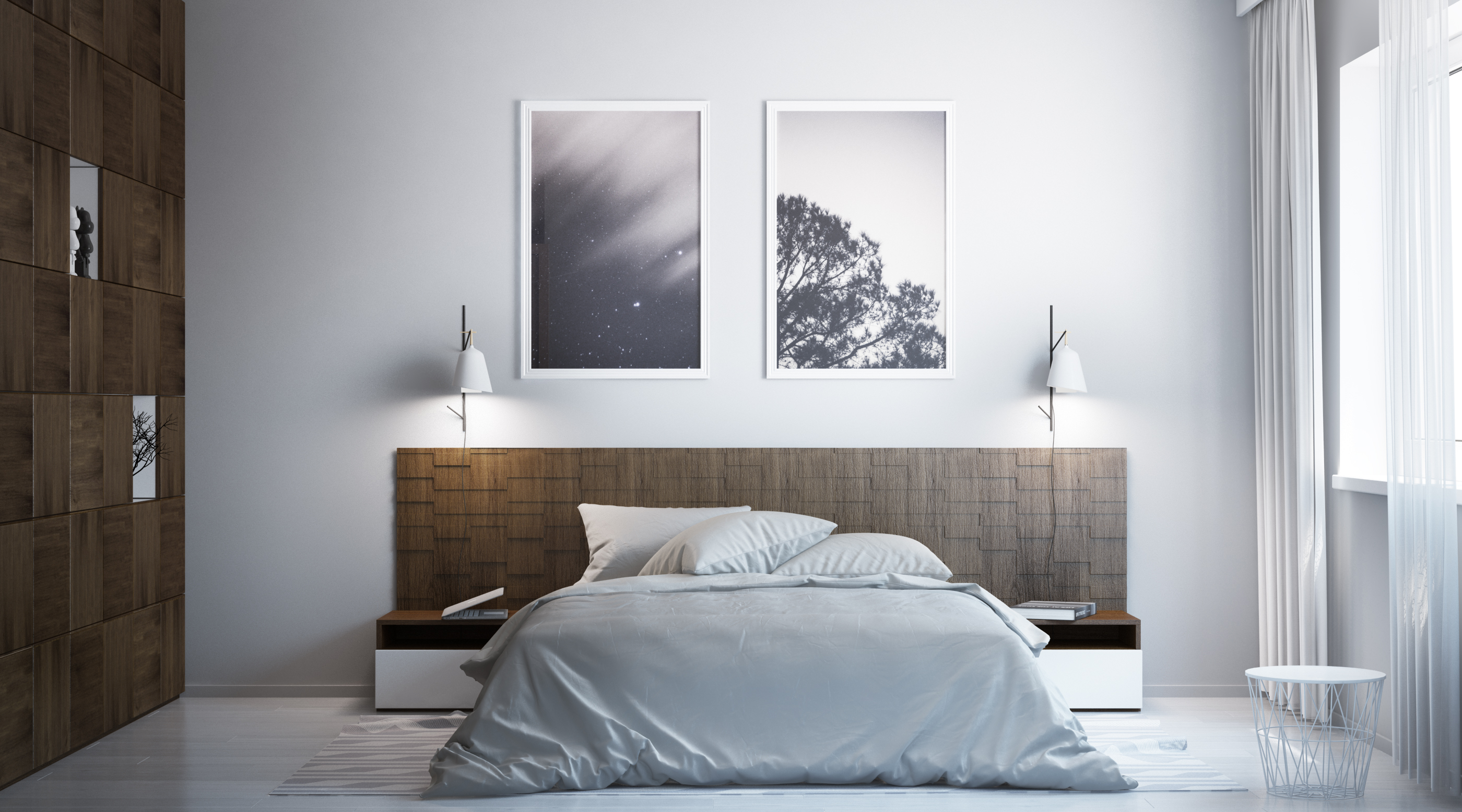 Wizualizacja mieszkanie developerskie Utrecht sypialnia