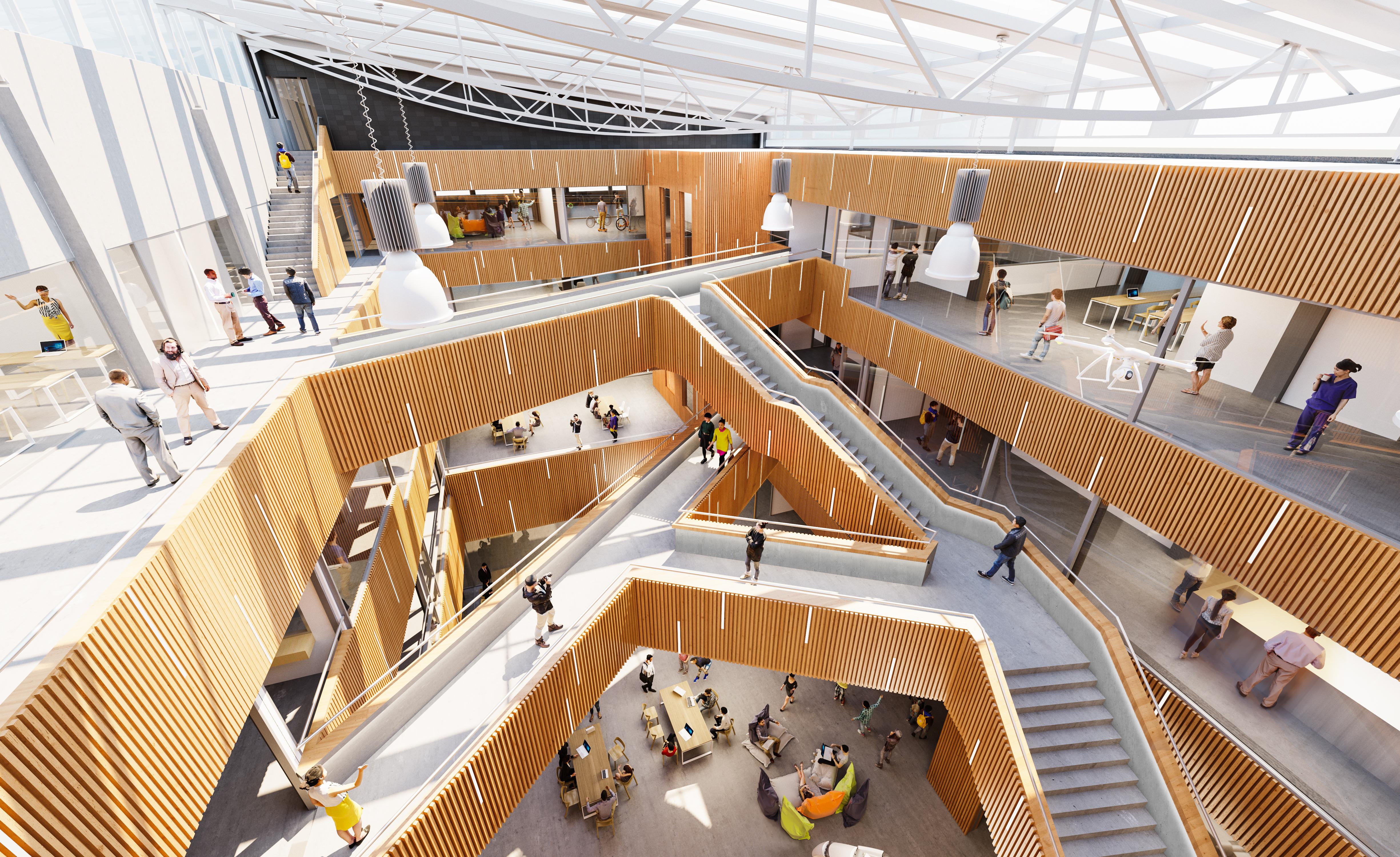 Wizualizacja wnętrz uniwersytet techniczny Eindhoven